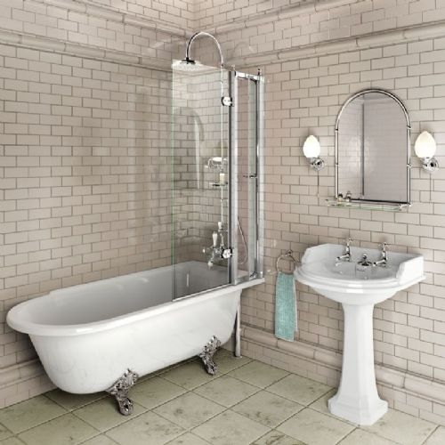 Burlington 8mm Bath Screen With Access Panel - C10